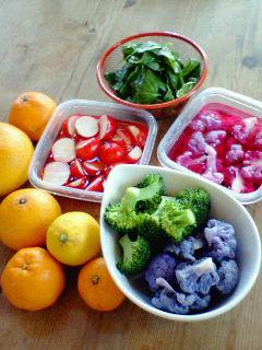 野菜の色に魅了される
