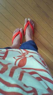 布草履って可愛いね。