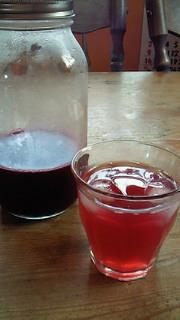 赤紫蘇ジュース作ってみました