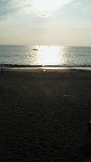 森戸海岸の夕日