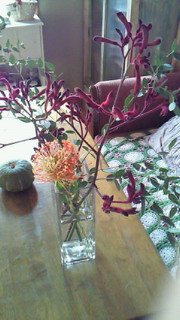 秋の花でアレンジメント